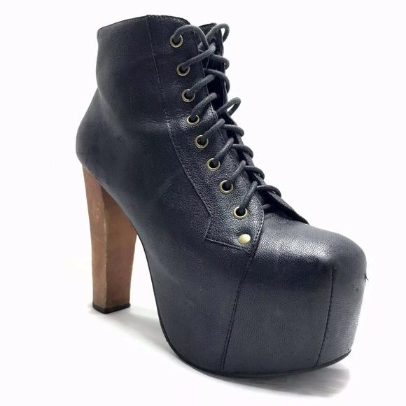 best service c1e07 21a95 Jeffrey Campbell Lita Platform Boots Black Leather